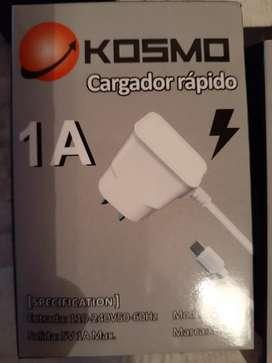 Cargador rapido de celular con cable micro usb incorporado