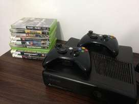 Xbox 360 2joysticks Y Juegos Originales