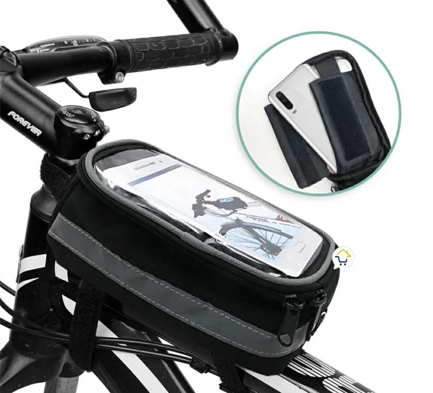 Estuche alforja bicicleta impermeable celular TQ905E