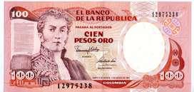 TRES  BILLETES  DE COLOMBIA TRIO DE  100  PESOS