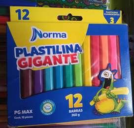Plastilina * 2 cajas 12 barras cada una