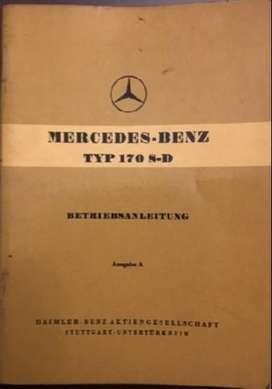 Manual Mercedes Benz 170 S-D