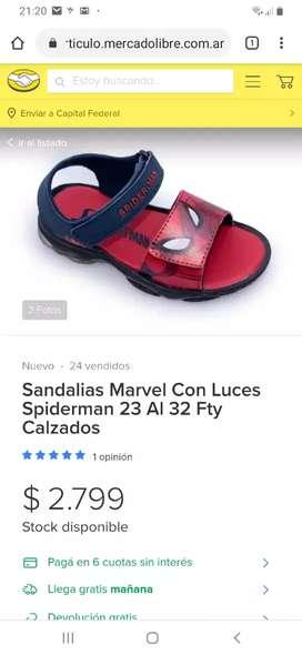 Sandalias Spiderman