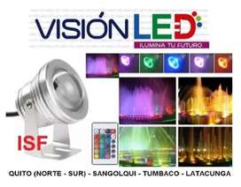 Reflector Luz Led Multicolor Luces Rgb Sumergible Piscinas