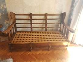 Juego de sillones de madera cedro en excelente estado