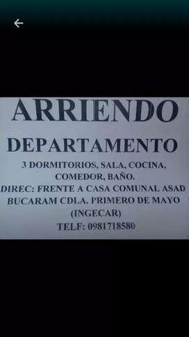 ARRIENDO DEPARTAMENTO