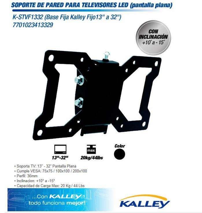 soporte para televisor 13-32 pulgadas marca Kalley 0