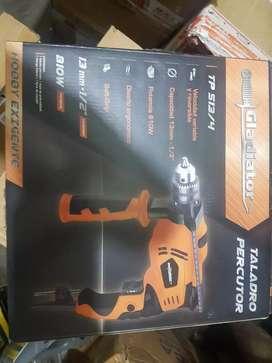 taladro percutor gladiador 810w