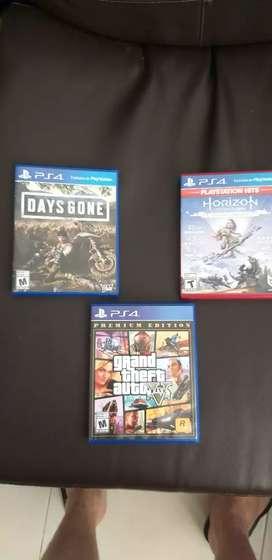 Venta 3 juegos para play 4