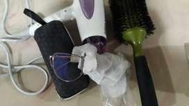 Secador de pelo + Cepillo + gafas luz azul