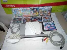 Nintendo Wii Programada Dvd - Usb + Con Control + Nunchuk + Cables