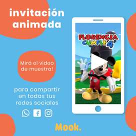 Mickey Mouse Invitación Animada en Video
