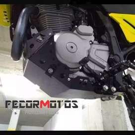 Pechera suzuki Dr 650 en aluminio protector de motor