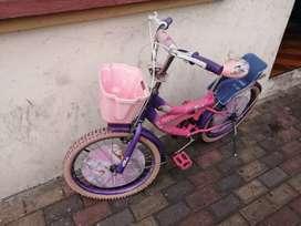 Bicicleta para niña. Excelentes condiciones