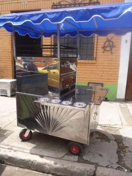 Carro pizzero en acero