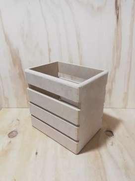 Caja tipo guacal de madera MDF cofre empaque para anchetas regalos y detalles