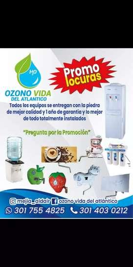 Filtros de agua a base de ozono