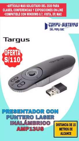 Presentador con puntero laser inalambrico marca Targus AMP13US