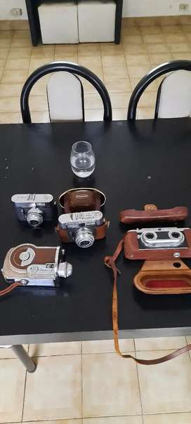 Lote de cámaras alemanas excelentes y filmadora