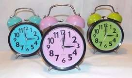 Reloj Despertador Con Campanilla Real C/ Luz Y Alarma $ef