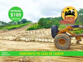 Construye Tu Casa de Campo, En El Lugar Ideal, Quintas Rancho Spondylus, Terrenos desde 1.000m2, Entrada de 100 usd, S1