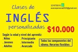 Clases de Inglés Personalizadas (horarios flexibles. Servicio en asesorías, traducción, trabajos escritos, metodologías