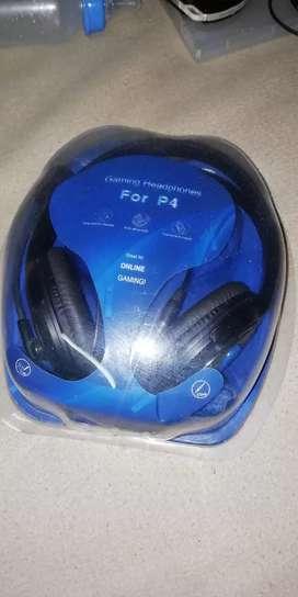 Audífonos con micrófono para PS4 pc celular etc