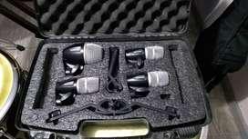 Kit de 4 microfonos para Batería Shure pgdmk6 xlr con estuche usados