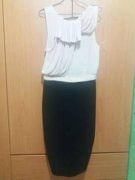 Vestido Caqui con Negro Zara
