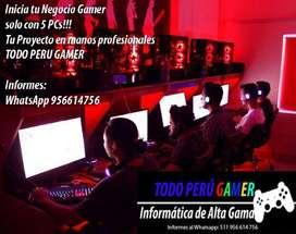 proyecto lan center gamer inicia con 5 pcs s/.12900 segunda mano  Perú