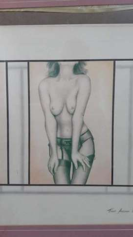 "Cuadro original pintor peruano Tomas Arellano  ""Liguero"""