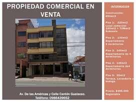 Propiedad Rentera local comercial + 3 departamentos