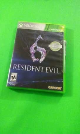 Juego de Resident Evilt 6 para XBOX 360 original nuevo