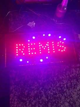 Cartel led REMIS 48CMx25CM