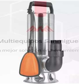 Bomba sumergible acero aguas sucias Truper 1 1/2 HP