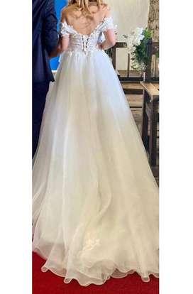 Vestido de novia matrimonio en Bogota, vestido importado, excelente oportunidad.