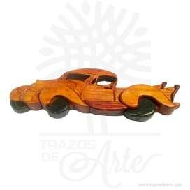 Carro en madera intarsia - Precio COP