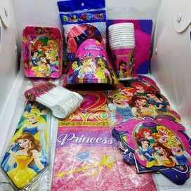 Decoración Para Piñata Kit Fiesta Infantil Princesas 12 Invitados