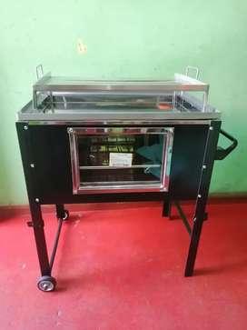 Vendo caja china de acero inoxidable de 12.kilo con  fibra de vidrio templado sus patas plegables facil para transportar