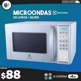 Horno Microondas Electrolux 20 Litros Silver EMDN20S3MLG