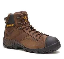 Zapatos de seguridad- Dama- Caterpillar, Talla 36, color café oscuro, Estado: Nuevo