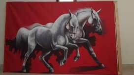 Cuadro caballos por Jhon Duque