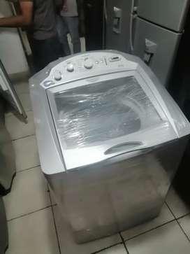 Lavadora 38 libras, centrales, de molino corto, de perilla