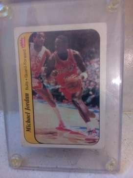 1986 Fleer  Rookie Michael Jordan Novato # 8