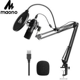 Micrófono de condensador profesional USB para streaming, Videojuegos, YouTube o PodCast