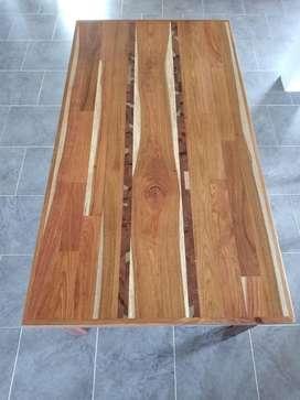 mesa en madera de 6 puestos