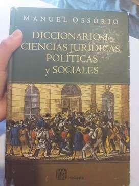 Diccionario Manuel Ossorio de ciencias  jurídicas