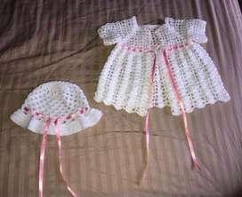 Vendo conjunto crochet niña bebe tejido