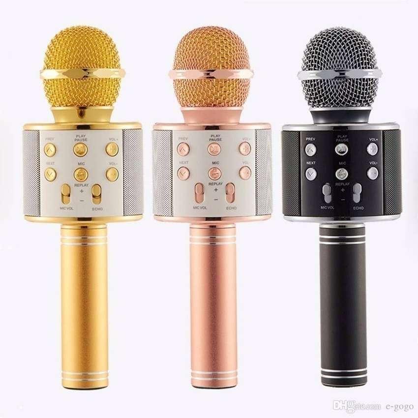 Micrófono Karaoke Inalámbrico Bluetooth WS-858 Recargable 0