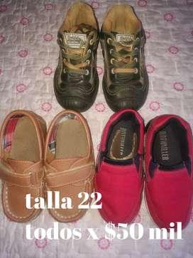 Zapatos usados perfecto estado para bebé